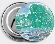 Seize the Day magnetic bottle opener